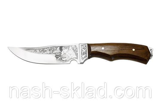 Нож охотничий ручной работы Рысь, кожаный чехол в комплекте, фото 2