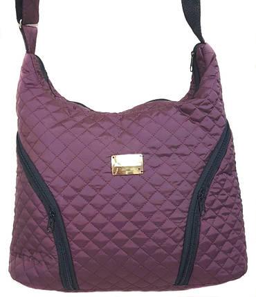 Стеганая зимняя женская сумка фиолетовая BR-S 1091846143, фото 2