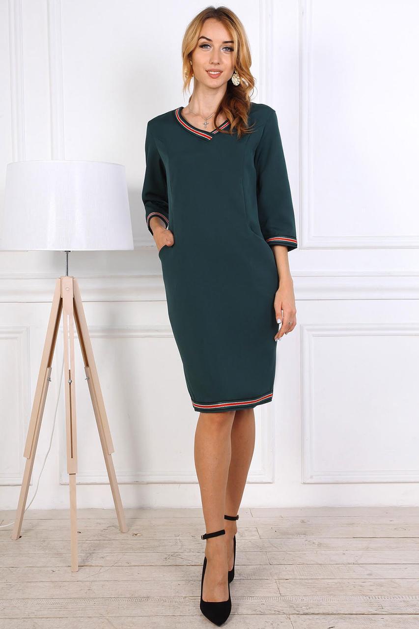 Платье женское 806-01 бутылочного цвета