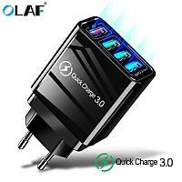 Быстрая зарядка OLAF Qualcomm QC 3.0 48 Вт 4 USB порта быстрое зарядное устройство для мобильного телефона