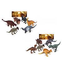 Динозавры K163-K164, 6шт, от 14см