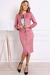 Женский костюм 812-02 цвета пудры