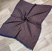 Шарф стильный коричнево-синий копия Louis Vuitton  (Турция)
