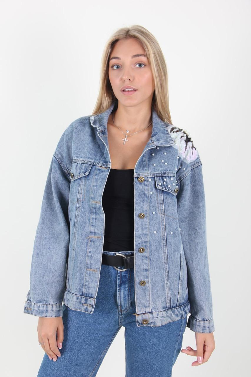 Куртка женская Shashafushi 8032 джинс (Синий L)