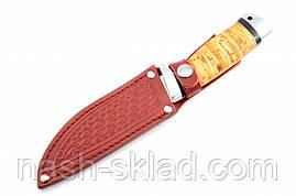 Нож охотничий  Дичь с рукоятью из бересты с кожаным чехлом  + эксклюзивные фото, фото 3