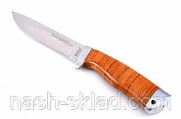 Нож для охоты и рыбалки Барнаул , с рукоятью из наборной кожи + эксклюзивные фото, фото 2