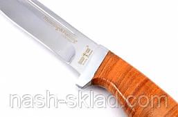 Нож для охоты и рыбалки Барнаул , с рукоятью из наборной кожи + эксклюзивные фото, фото 3