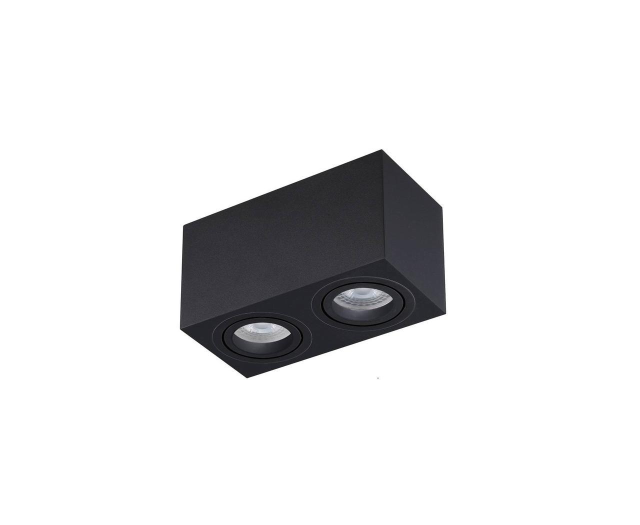 Led спот накладной двойной черный квадрат TH5835 BK