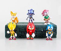 Набор фигурок Соник Super Sonic 6 штук