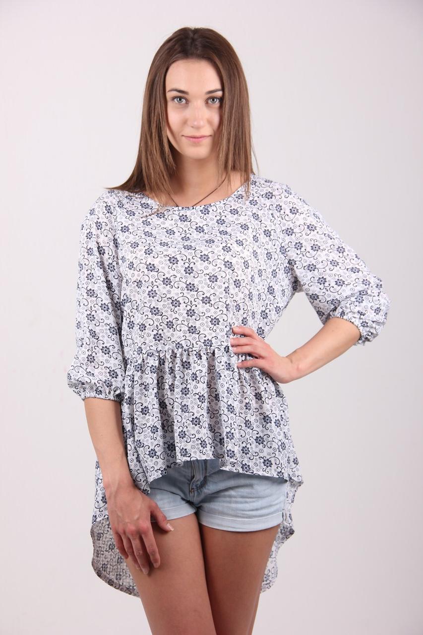 Туника женская MissFashion 2066 блуза (Черный 42)