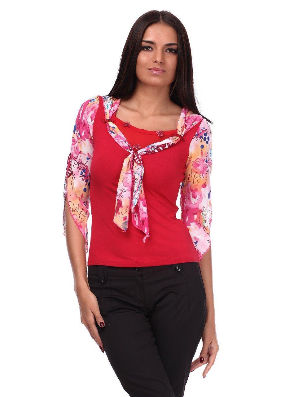 Блузка женская EURO'S 0650 циганочка (Красный S/M)