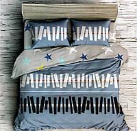 Комплект постельного белья двуспальный Евро Piano Сатин Фабричная Турция