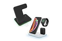 Беспроводная зарядка подставка 3 в 1 айфон/эпл вотч/аирподс IPhone/Apple Watch/AirPods