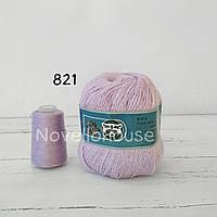 Пух норки № 821 светло лиловый