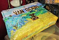 Шикарная кожаная редкая сумка  Louis Vuitton VAN GOGH Original quality