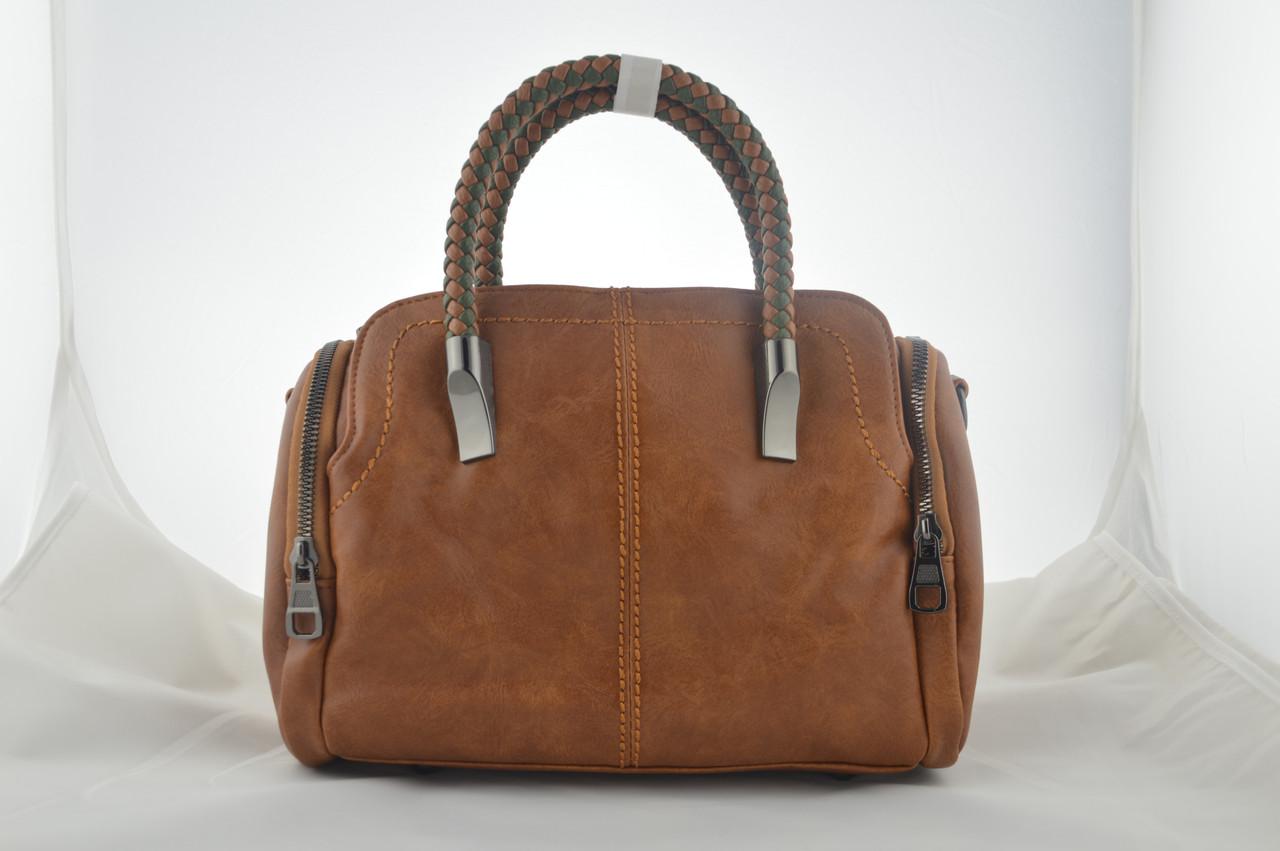 Коричневая сумка из эко кожи