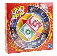 Гра Уно Uno UNO SPIN (УНО СПИН) 0129R (18шт) мікс видів, в кор.