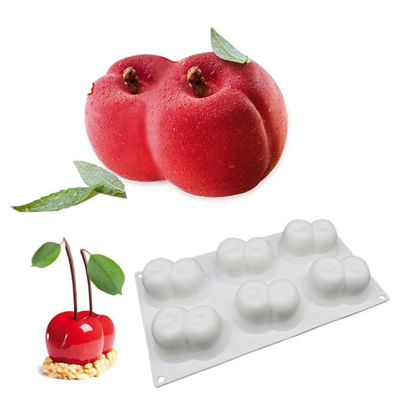 Силиконовая форма для евродесертов персики
