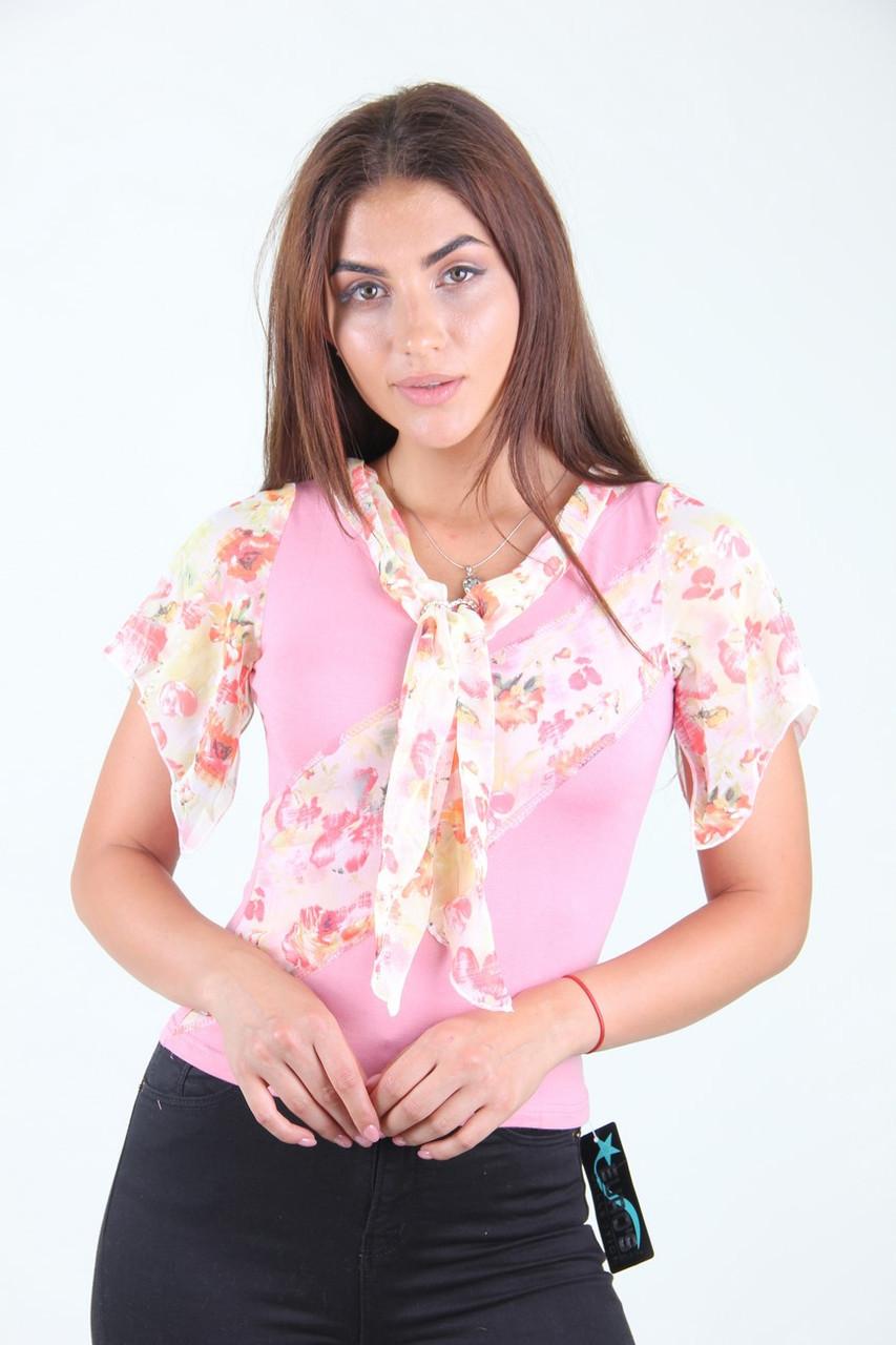 Блузка женская EURO'S 0655 циганочка (Нежно-розовый S/M)