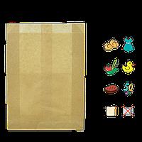 Бумажный пакет без ручек крафтовый 390х270х70мм (ВхШхГ) 50г/м² 100шт (959)