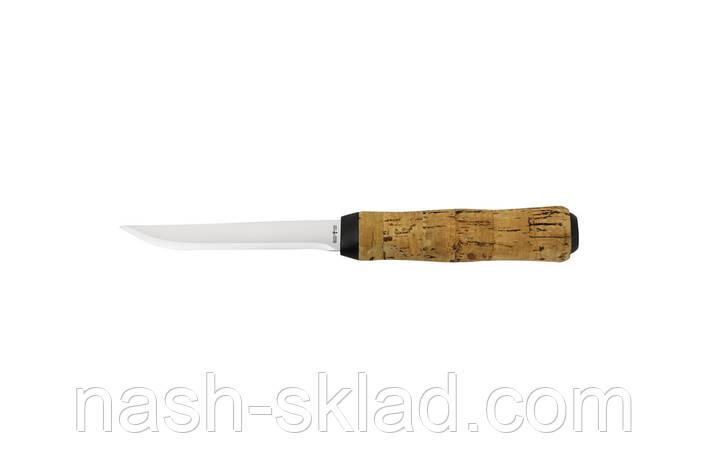 Нож рыбацкий нетонущий Корок, с кожаным чехлом и прочной стали, фото 2