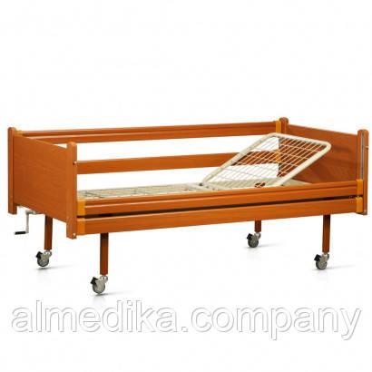 Кровать функциональная двухсекционная деревянная