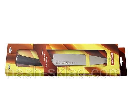Элитный кухонный  шеф-нож Немецкого производства Grossman, заточку держит 1 год, фото 2