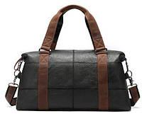 Дорожная сумка комбо Vintage 14773 Черная, КОД: 1317226