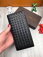 Клатч кошелек мужской кожаный модный качественный подарочный Bottega Veneta, фото 1