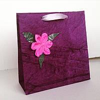 Подарочный пакет ручной работы из сжатой бумаги №4, фото 1