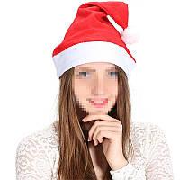 Новогодняя простая шапка колпак санта