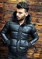 Мужская зимняя куртка Philipp Plein черная