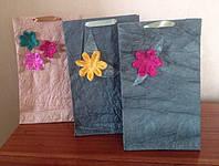 Подарочный пакет ручной работы из сжатой бумаги №5, фото 1