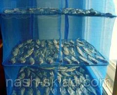 Сушилка для рыбы, грибов, сухофруктов, защитит от насекомых, на три полочки 50*50*55, фото 2