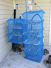 Сушилка для рыбы, грибов, сухофруктов, защитит от насекомых, на три полочки 50*50*55, фото 3