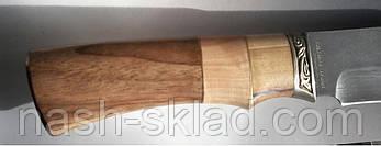 Нож охотничий из дамасской стали  Зубр, 240 слоев стали (Ручная работа) + кожаный чехол, фото 3