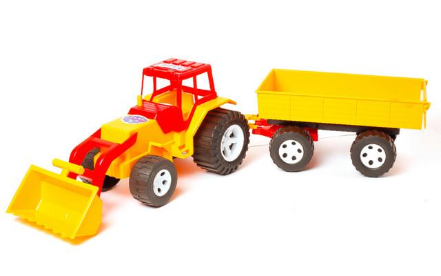 Трактор 007-2 с прицепом ковшем Бамсик