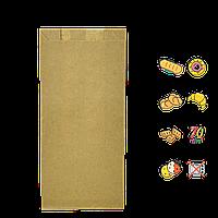 Бумажный пакет без ручек крафтовый 220х100х50мм (ВхШхГ) 70г/м² 100шт (896)