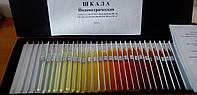 Шкала стандартных растворов йода для определения цветности масла
