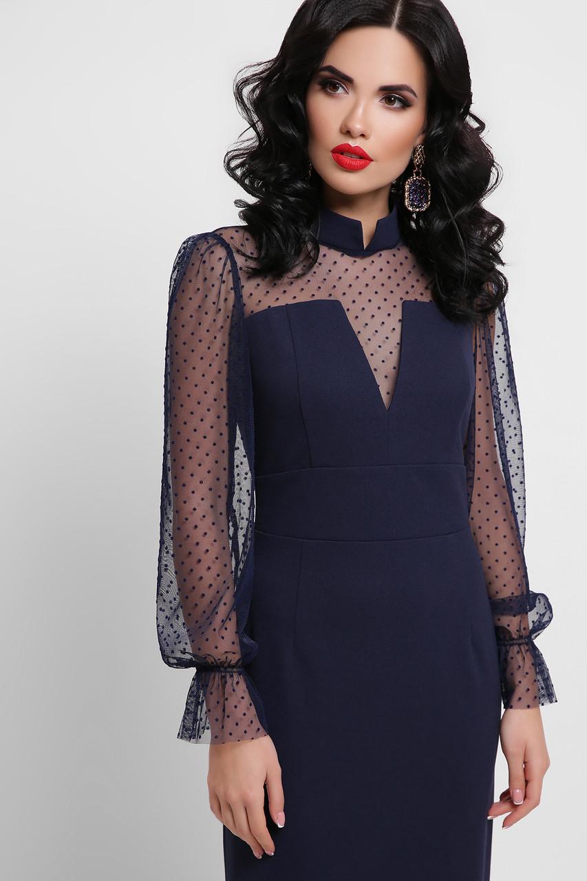 GLEM плаття футляр з сіткою Лук'яна д/р