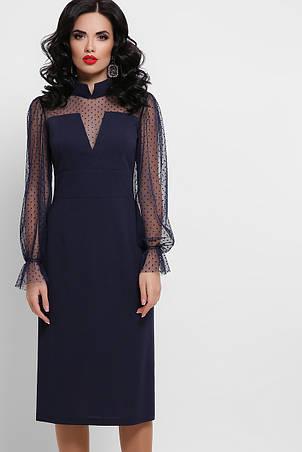 GLEM плаття футляр з сіткою Лук'яна д/р, фото 2