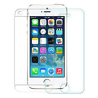 Защитное стекло 2in1 Premium Tempered Glass 0,3mm (2,5D) для Apple iPhone 5/5S переднее+заднее