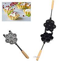 Форма для выпечки больших корзинок кексов и тарталеток с антипригарным / тефлоновым покрытием