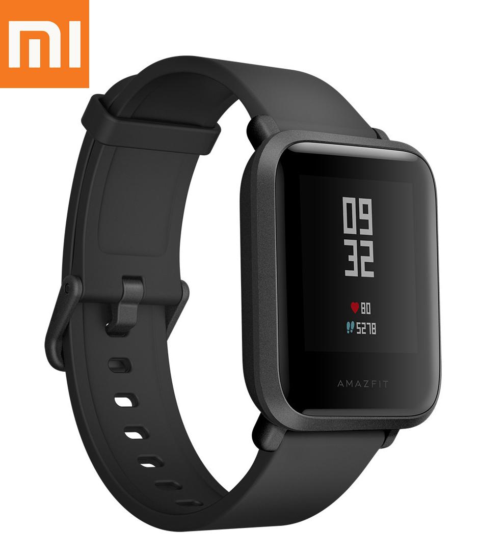 Оригинал Xiaomi Amazfit Bip GPS Onyx Black Глобальная Версия Смарт-Часы