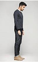 Оригинальный свитшот мужской из плотной ткани серый, фото 3