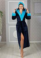Махровий халат жіночий з пов'язкою довгий розміри 42-44 46-48 50-52 є кольори Новинка