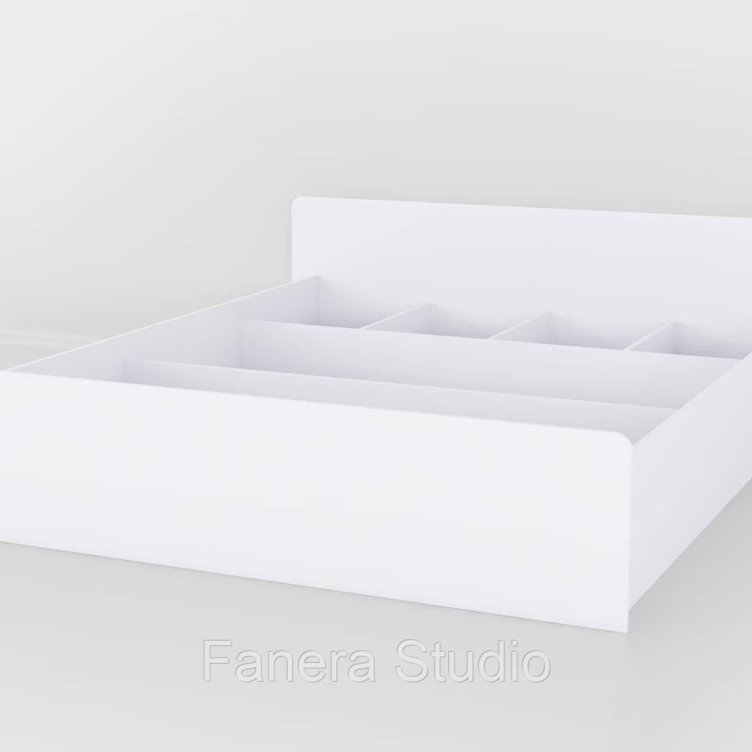 Кровать двуспальная из влагостойкого МДФ