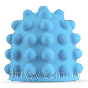 Насадка для вибромассажера - MyMagicWand Nubbed Attachment, цвет: голубой