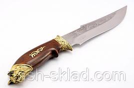 Нож охотничий Рысь, производство Украина(Спутник)+ кожаный чехол и паспорт, фото 2