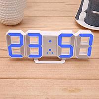 Электронные настольные LED часы с будильником и термометром Caixing CX-2218 Голубой